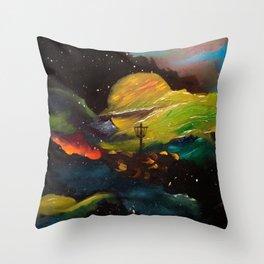 Galaxy Discing Throw Pillow
