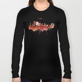 London Skyline watercolor Long Sleeve T-shirt