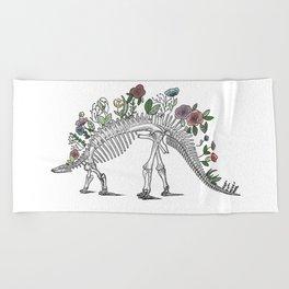 Stego-flora-saurus Beach Towel