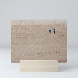 Dusty Road on Salar De Uyuni Mini Art Print