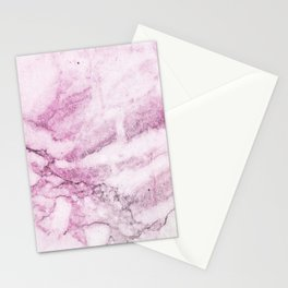 Watercolor pink marble Stationery Cards