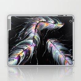 Neon Feathers Laptop & iPad Skin