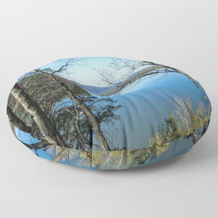 Through to the Susquehanna Floor Pillow