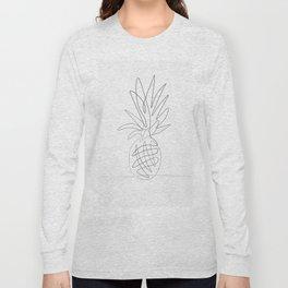 One Line Pineapple Long Sleeve T-shirt