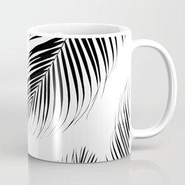 Palm Leaves - Black & White Cali Vibes #2 #tropical #decor #art #society6 Coffee Mug