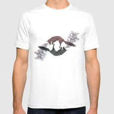 Envious foxes SMALL White Mens Fitted Tee