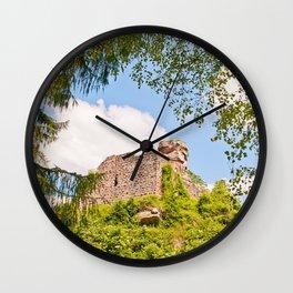 Castle ruin Hohenbourg Wall Clock