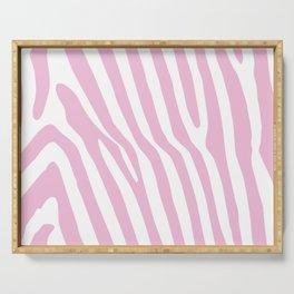 Baby Pink Zebra Stripes Serving Tray