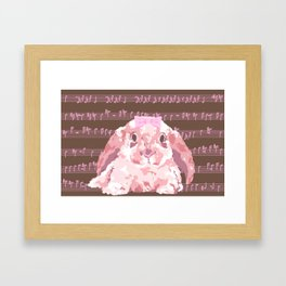 Bunny Composition (pink/brown) Framed Art Print
