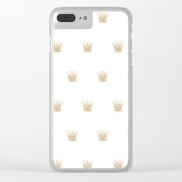 Golden Crown Pattern Clear iPhone Case