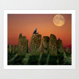 Wolfhenge Art Print