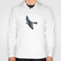 swallow Hoodies featuring Swallow by Rebecca Mcmillan