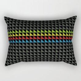 Four Tone Triangles Rectangular Pillow