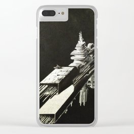 An Homage to 1980's Starships Clear iPhone Case
