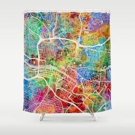 Glasgow Scotland City Street Map Shower Curtain