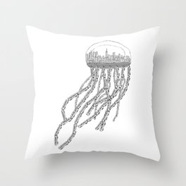 NY Sea Throw Pillow