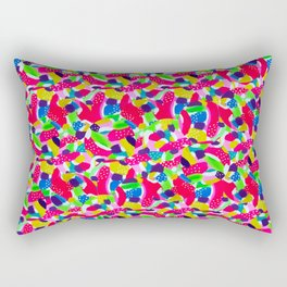 Colourful Abstract Rectangular Pillow