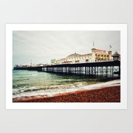 Brighton Palace Pier in Early Spring Art Print
