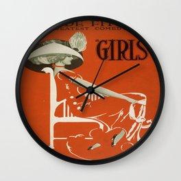 Vintage poster - Girls Wall Clock