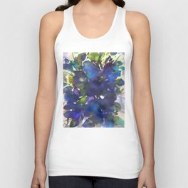 Blue Butterfly Poppy Unisex Tank Top