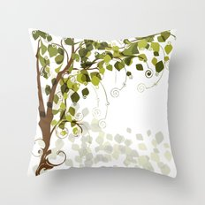 Jungle Swirls And Twirls Throw Pillow
