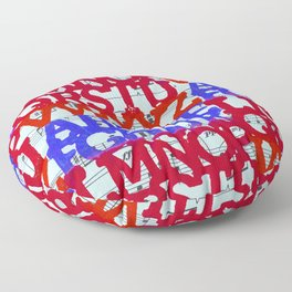 Patriotic ABC Floor Pillow