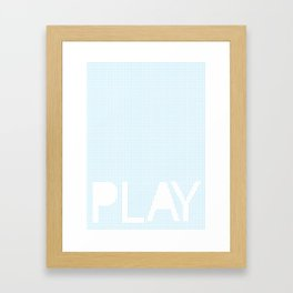 Play with . Framed Art Print