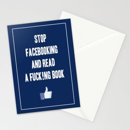 Stop Facebooking and Read a F@cking Book Stationery Cards