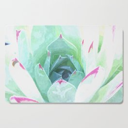 Cactus succulent in green and pink Cutting Board