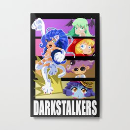 Darkstalker Gals Metal Print