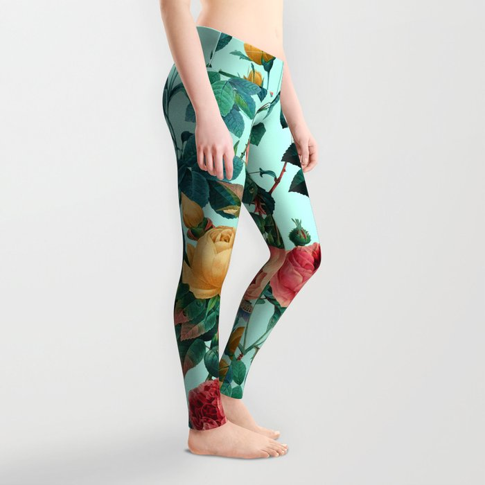 Spring-Summer Botanical Pattern II Leggings