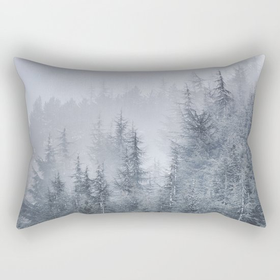 Early moorning... Into the woods Rectangular Pillow