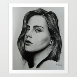 Model: Bridget Satterlee Art Print