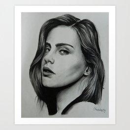 Model: Bridget Satterlee Art Print
