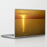 swedish Laptop & iPad Skins featuring Swedish Sunset by LesImagesdeJon