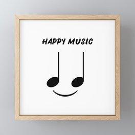 Happy Music Framed Mini Art Print