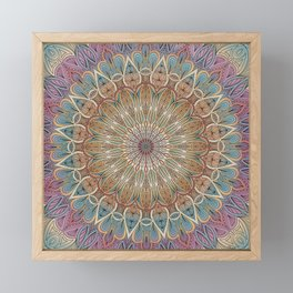 Gentle Touch Mandala Art Framed Mini Art Print
