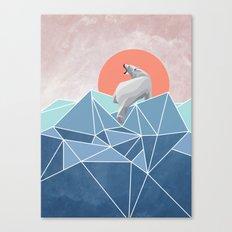 Polar Bear live in North Pole Canvas Print