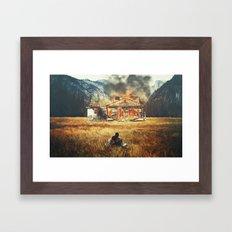 Burned Framed Art Print