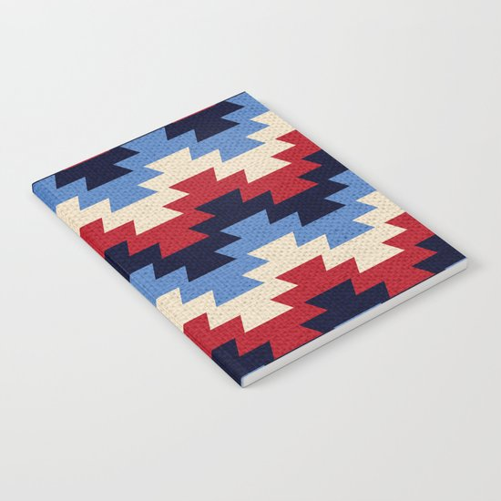 Aztec geometric pattern Notebook