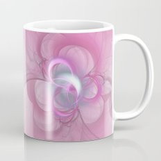 Pink Abstract Fractal on Pink Coffee Mug