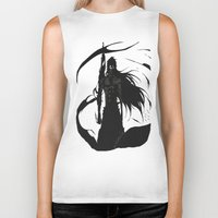 bleach Biker Tanks featuring KUROSAKI ICHIGO BLEACH by Prince Of Darkness