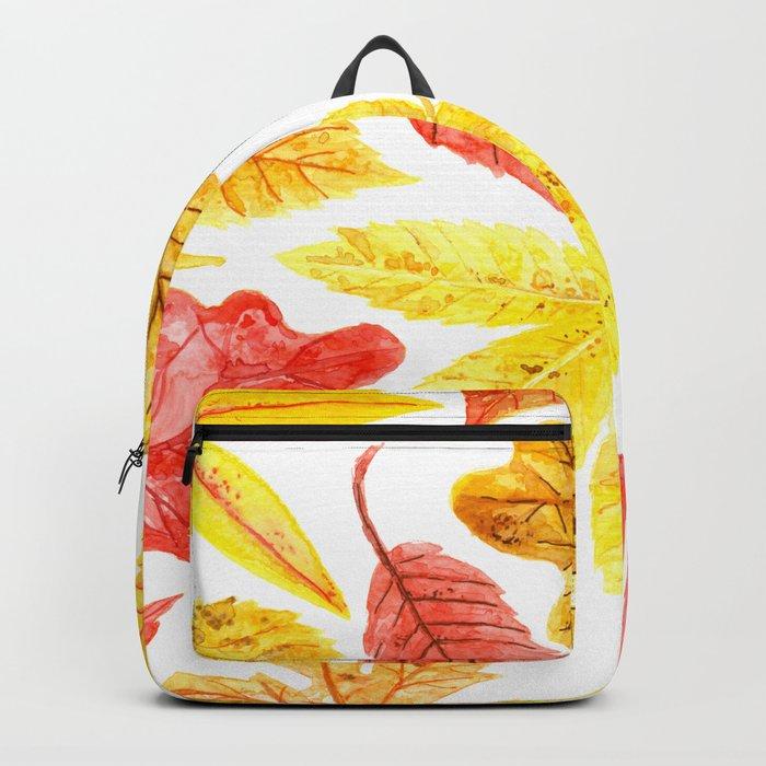 Atumn leaves watercolor Backpack