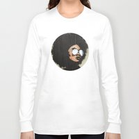 afro Long Sleeve T-shirts featuring Venus Afro by Vin Zzep