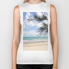 Tropical Beach Paradise Biker Tank