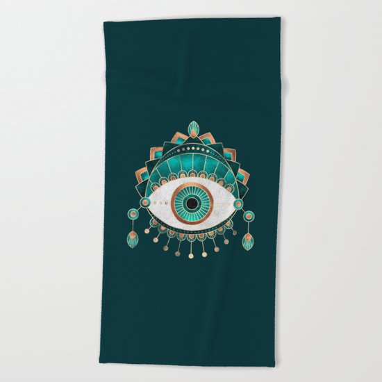 Teal Eye Beach Towel