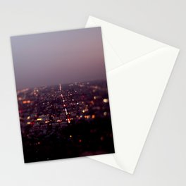 Angel City Lights, L.A. at Night (No. 2) Stationery Cards