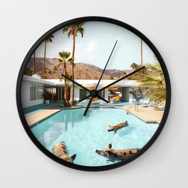Pig Pool Party Wall Clock