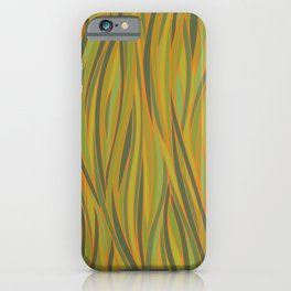 Olive Green and Orange Abstract iPhone Case
