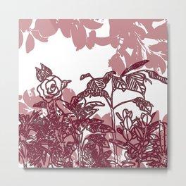 DRAWN PLANTS Metal Print